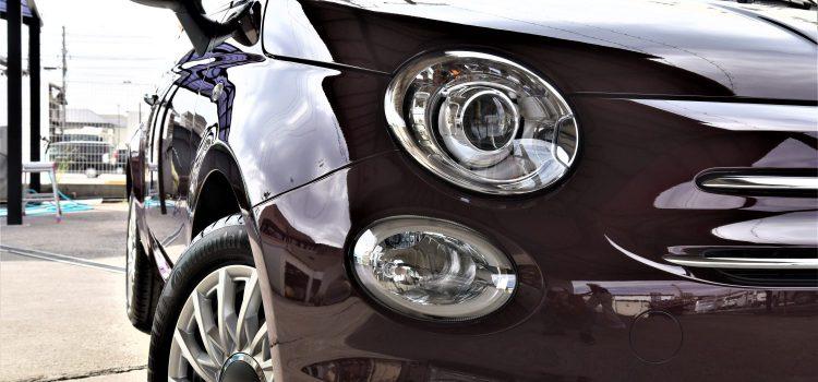 FIAT500 コーティング スモーク遮熱フィルム